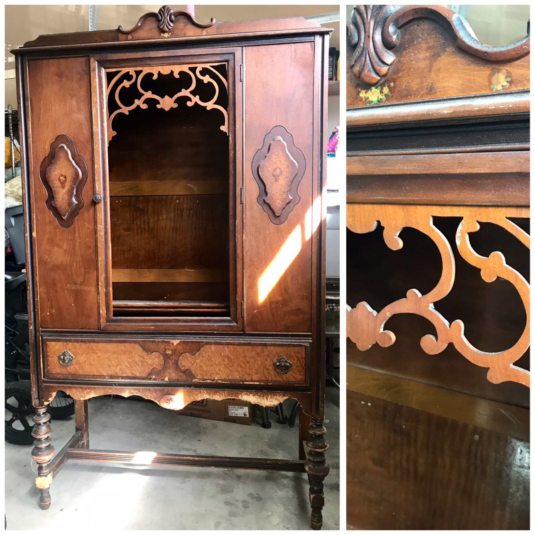 Furniture Find: DIY: Painting And Antiquing A Fabulous Furniture Find